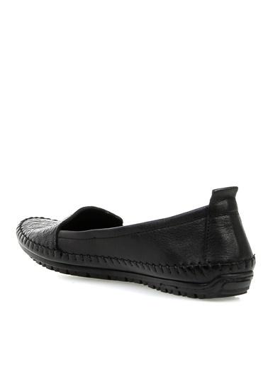 Greyder Greyder 58029 Zn Comfort A Kadın Deri Düz Ayakkabı Siyah